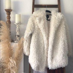 Forever 21 teddy coat